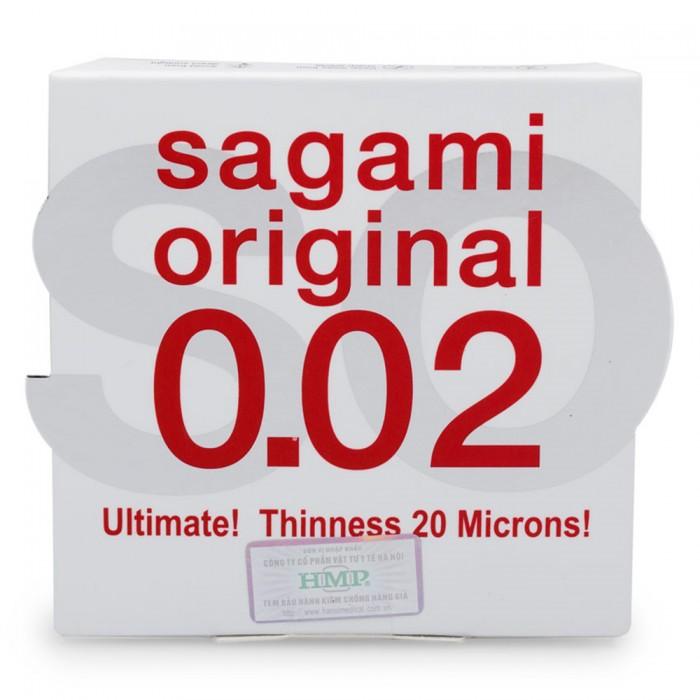 Bao cao su Sagami Original 0.02mm (hộp 1)