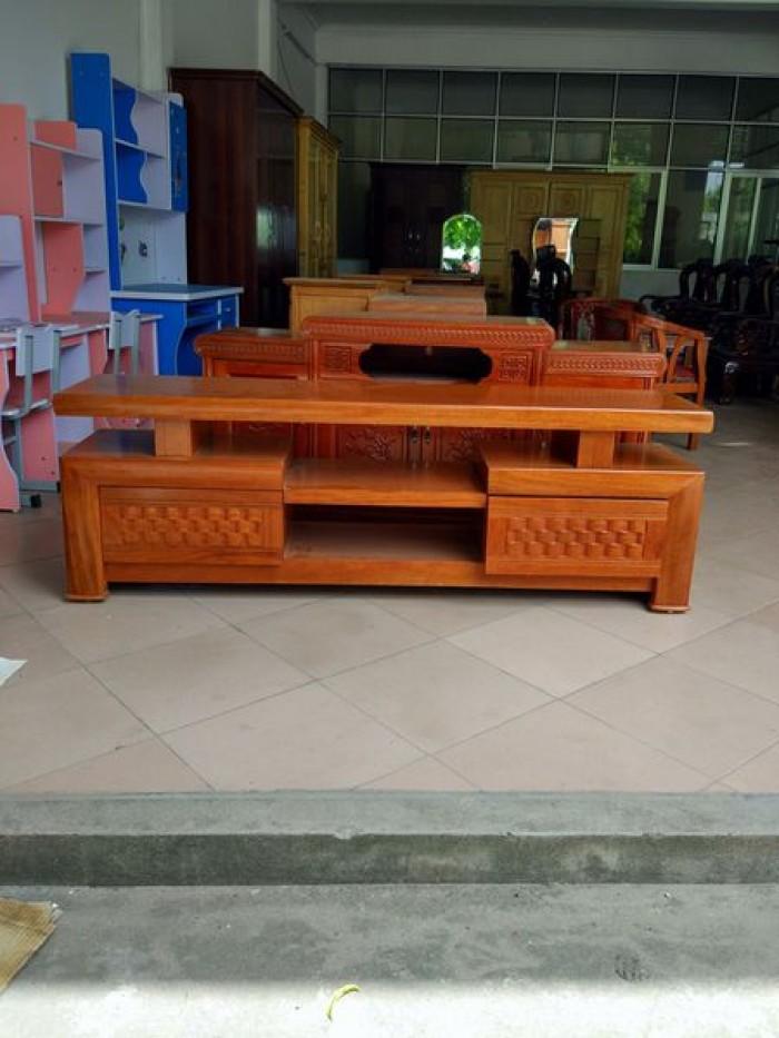 Kệ tivi kệ nhật gỗ xoan đào1