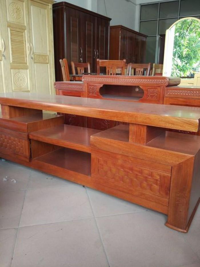 Kệ tivi kệ nhật gỗ xoan đào2