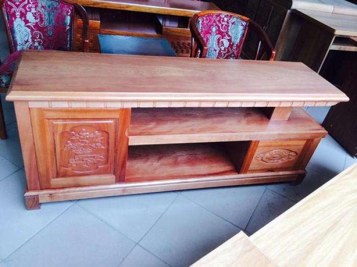 Kệ tivi kệ nhật gỗ xoan đào3