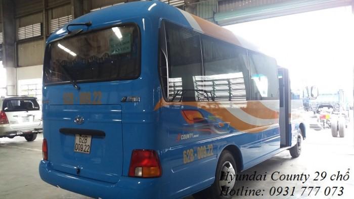Bán xe khách Hyundai County 2018 - Hyundai Đô Thành - Hỗ trợ giao xe nhanh trong vòng 5 ngày.