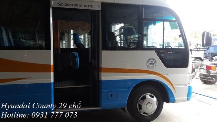 Bán xe khách Hyundai County 2018 - Hyundai Đô Thành - Hỗ trợ trả góp lãi suất thấp.