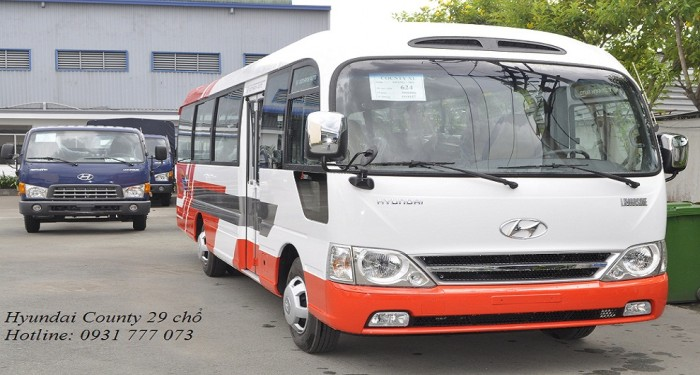 Hyundai County 29 chỗ nhập khẩu, chỉ cần trả trước 200 triệu - Hotline: 0931777073 (24/24)