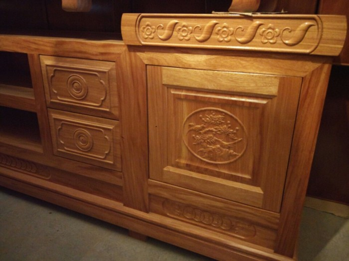 Kệ tivi mẫu mới gỗ đinh hương1