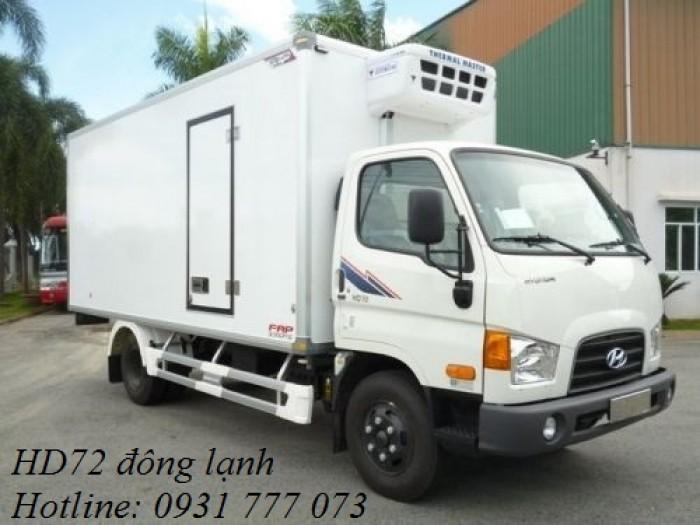 Xe tải Hyundai HD72 Đông Lạnh, Vay trả góp chỉ 100 triệu, giao xe trong vòng 10 ngày
