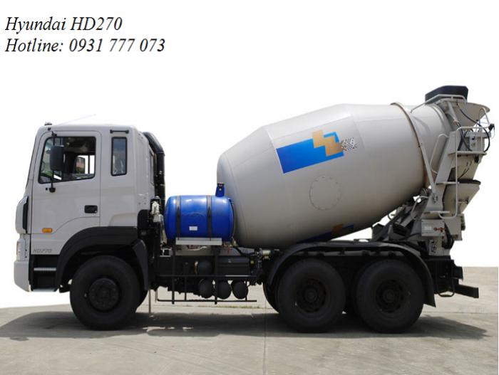 Xe bồn trộn bê tông Hyundai 15 tấn HD270 7m3...