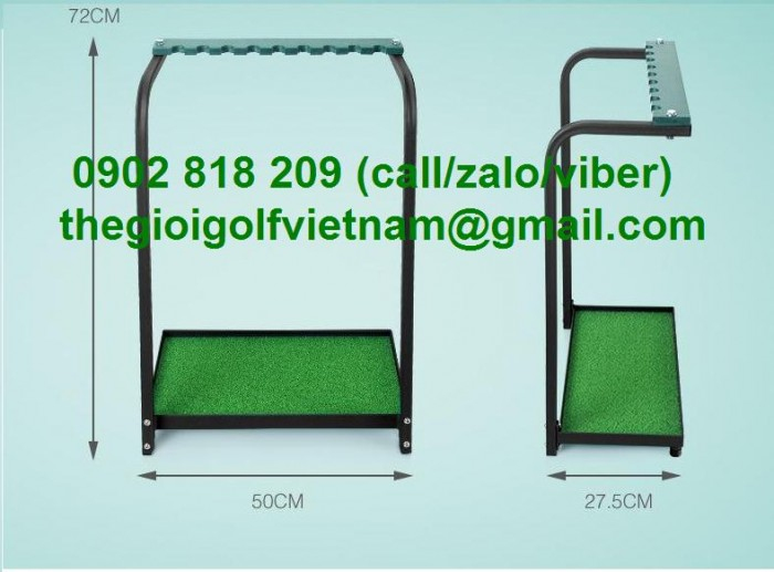 Giá để gậy golf inox, giá để túi gậy4