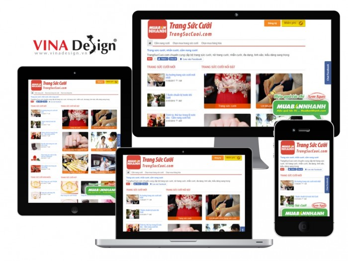 VINADESIGN thiết kế website Trang Sức Cưới - TrangSucCuoi.com