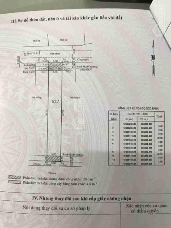 Bán đất hẻm 700 QL13 phường Hiệp Bình Phước -Thủ Đức