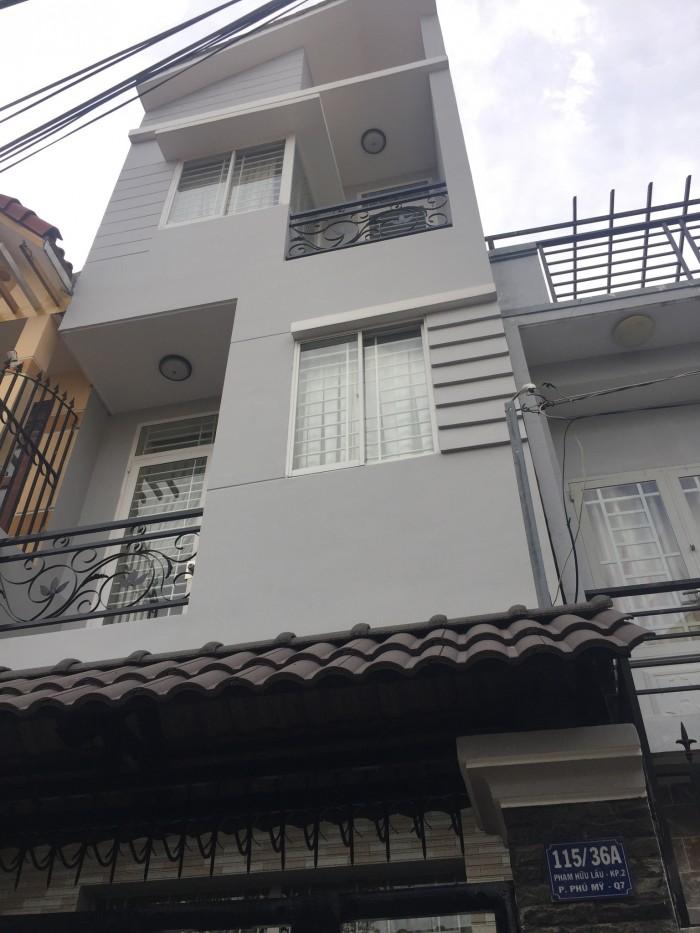Bán nhà 2 lầu mặt tiền hẻm 115/36A Phạm Hữu Lầu Quận 7