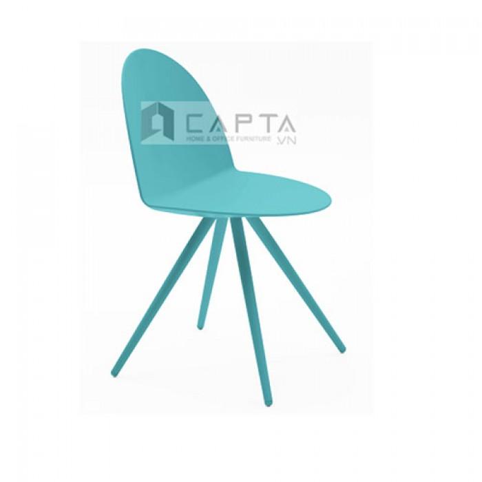 Ghế bàn ăn Camel thân nhựa, chân thép sơn tĩnh điện màu xanh cao cấp nhập khẩu HCM