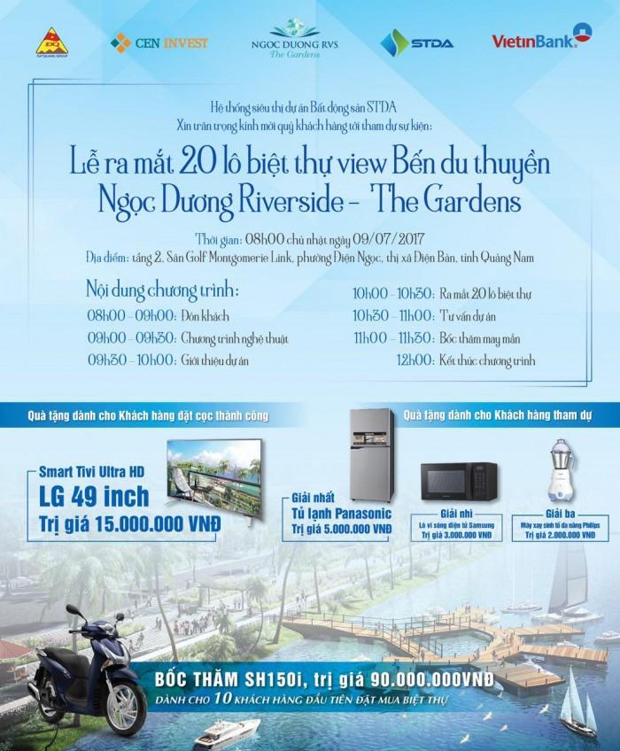 Mở bán KĐT Vườn Xanh Phố Ngọc ven biển Nam Đà Nẵng, chiết khấu lên đến 8%, hỗ trợ vay vốn 70%.