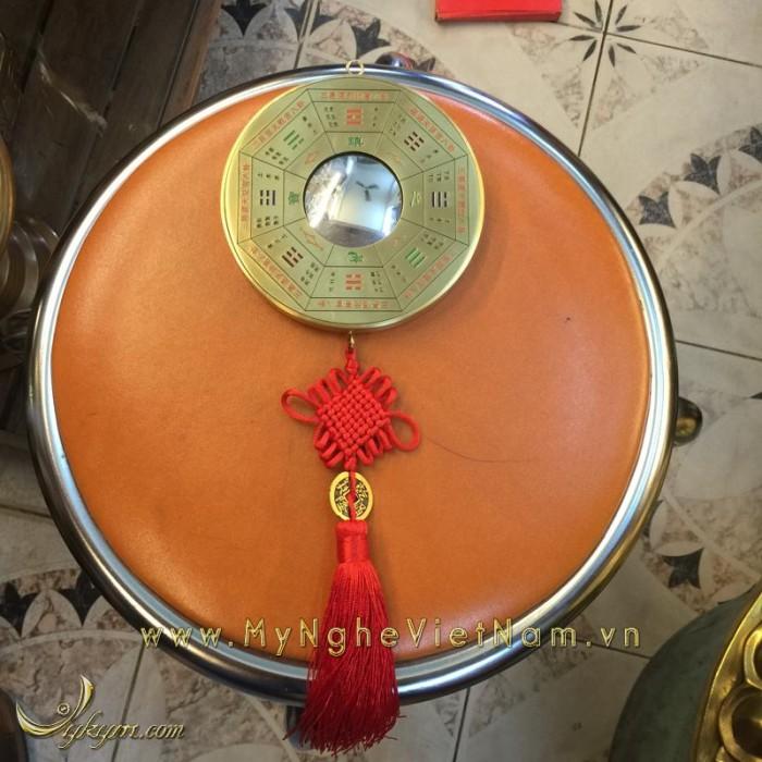 Gương bát quái bằng đồng phong thủy chấn trạch 12cm0