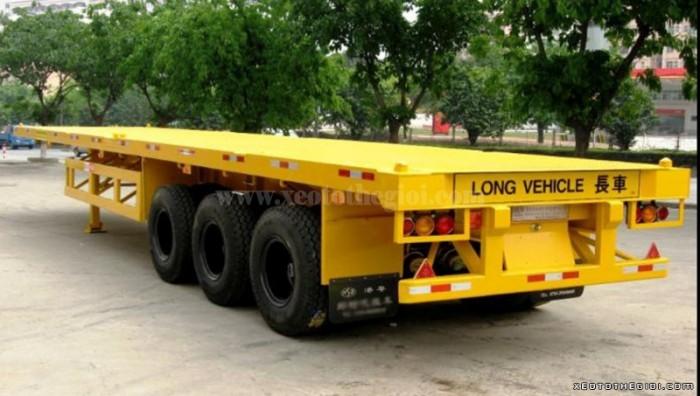 Sơ Mi Rơ Moóc Tải (Chở Container),Sàn 3 Trục,12m4,31.8 Tấn, Doosung Dv-Lsks-400Nd,40 Feet.