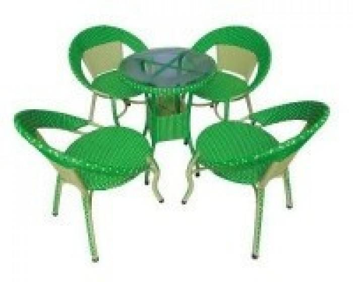 Chuyên sản xuất bàn ghế mây giá rẻ1