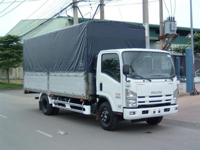 Xe tải ISUZU 5T thùng mui bạc 5m7 Nhật Bản 0