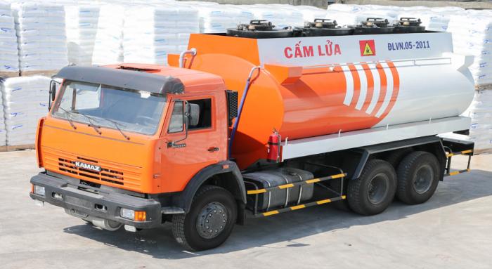 Bán xe vận chuyển xăng dầu KAMAZ 53229 (6x4) 18m3