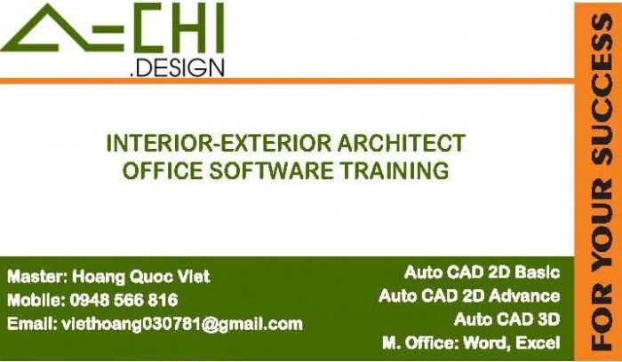 Thiết kế kiến trúc Nội Ngoại thất A-Chi.Design Dạy Auto Cad - Tin học văn phòng (Word, Excel)