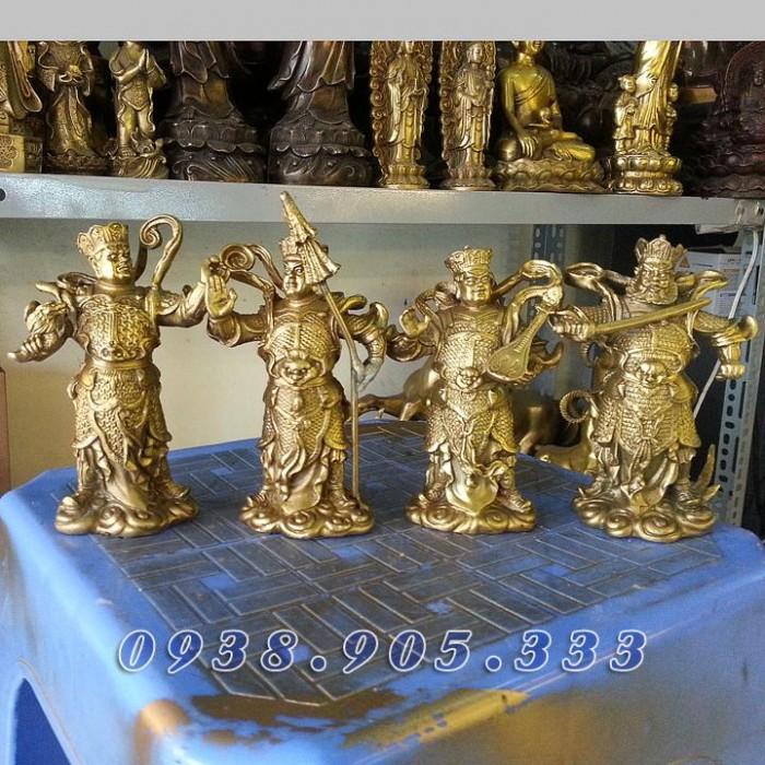 Tượng tứ đại thiên vương thiên tướng cao 10cm1