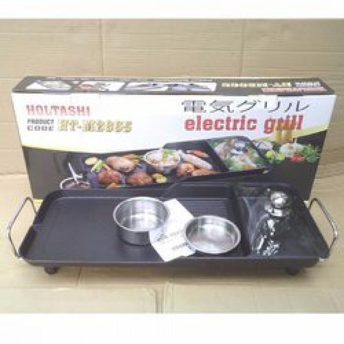 Vỉ nướng điện 3 ngăn Holtashi HT-M28650