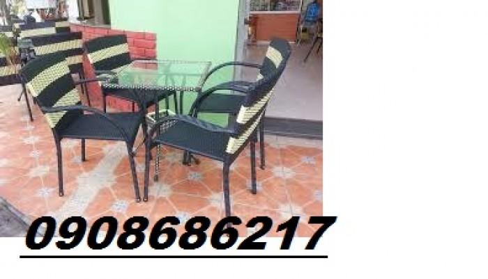 Bàn ghế cafe sân vườn giá rẻ1