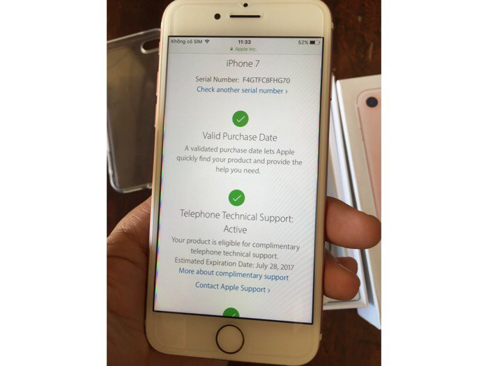 IPhone 7 rose hàng Mỹ3