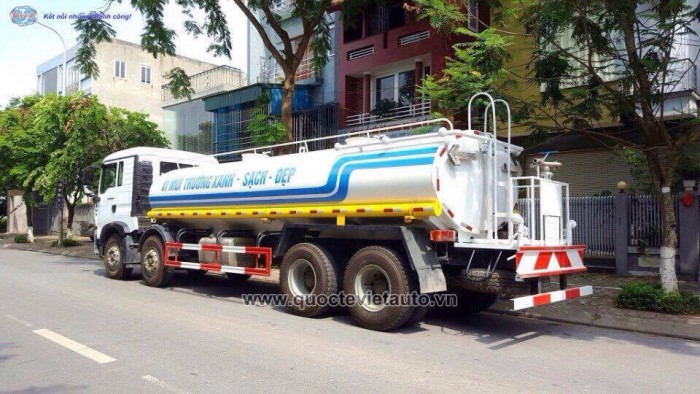 Bán xe Cũ: phun nước rửa đường - chăm sóc cây xanh Howo 4 chân. dung tích 17 khối