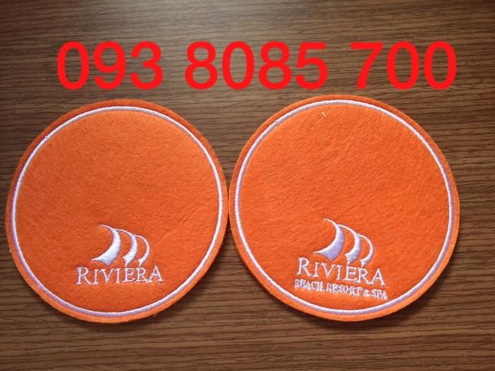 Nơi sản xuất, cung cấp lót ly vải nỉ, lót ly giấy, lót ly nhựa PVC theo yêu cầu