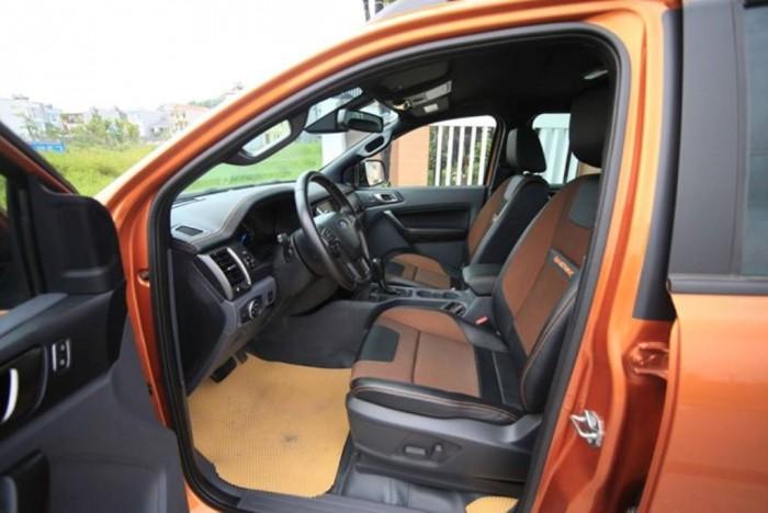 Ford Ranger Wildtrak 3.2L 4x4AT màu Vàng Cam , xe hai cầu,sản xuất 12/2016