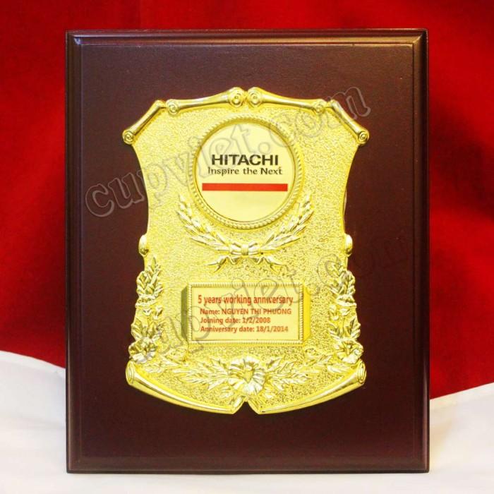 Sản xuất biểu trưng, đĩa đồng, đĩa lưu niệm, biểu trưng công ty Hitachi5
