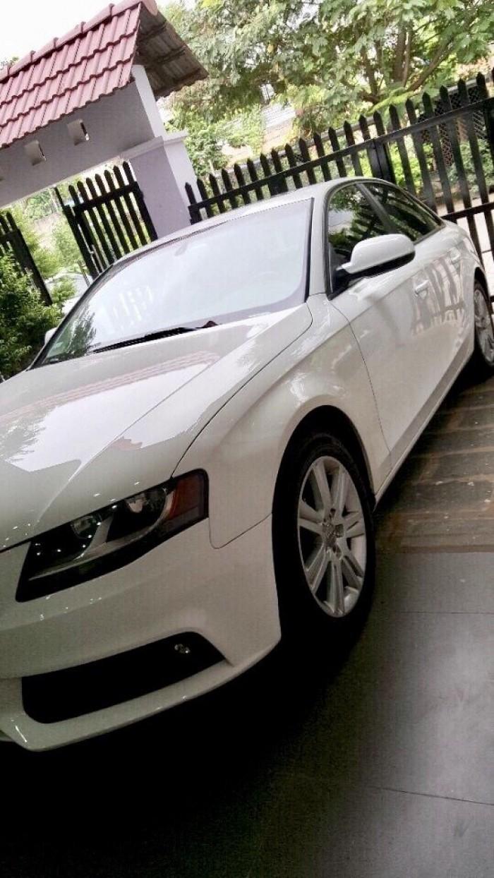 Bán Audi A4 2.0 TFSI màu trắng đời 2009  đăng ký 2012 bản full 1