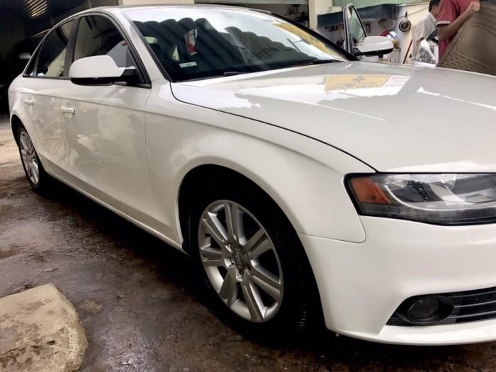 Bán Audi A4 2.0 TFSI màu trắng đời 2009  đăng ký 2012 bản full 2
