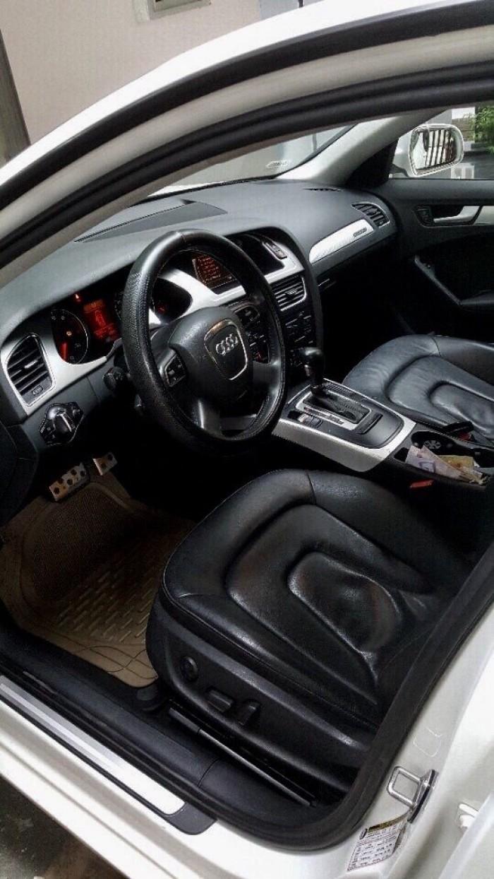Bán Audi A4 2.0 TFSI màu trắng đời 2009  đăng ký 2012 bản full 6