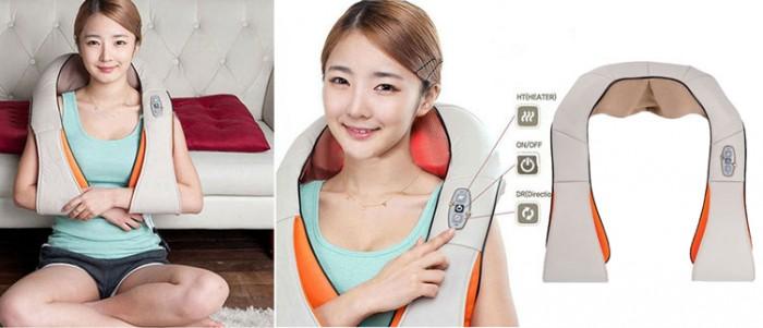 Đai massage khoác vai Nhật Bản, giảm đau vai gáy nhanh chóng
