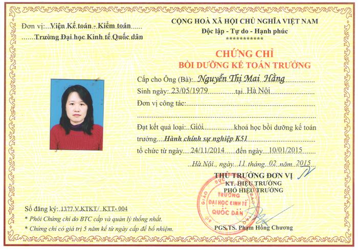 Lớp kế toán tại Hà Nội