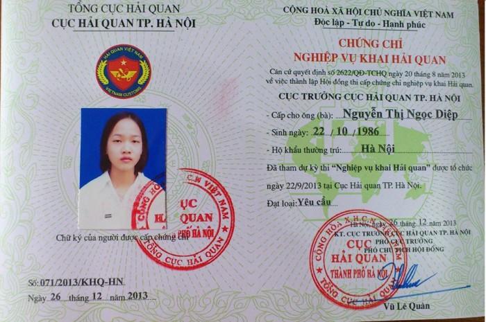 thi và cấp chứng chỉ nghiệp vụ hải quan điện tử
