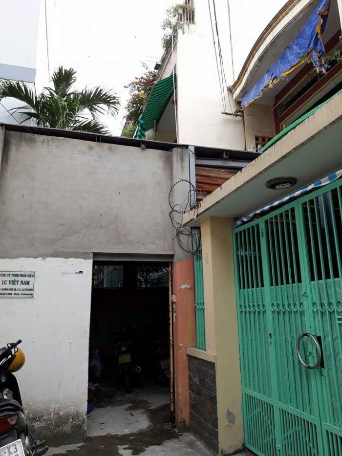 Cho thuê nhà nguyên căn đường Ngô Bệ,p2,Tân Bình. Diện tích:  4x26m2