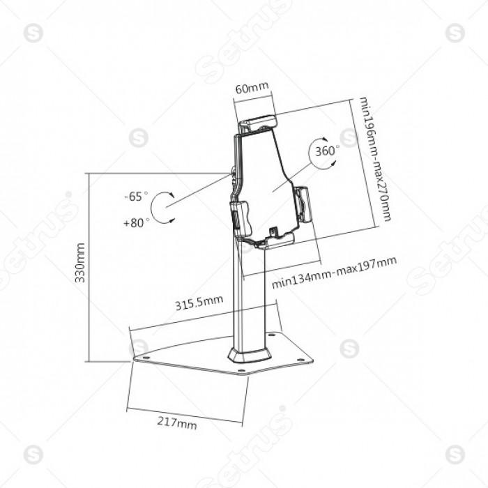 Giá đỡ trưng bày dành cho máy tính bảng BR-PAD 21-03.2