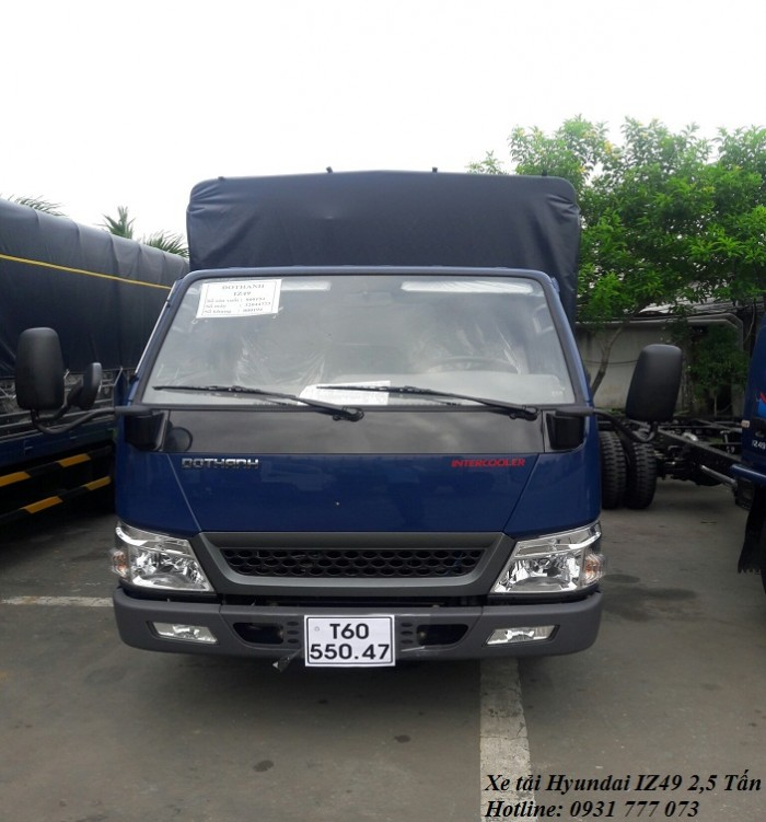 Xe tải Hyundai IZ49 2,5 tấn, hoàn tất hồ sơ trong ngày - Hotline: 0931777073 (24/24)