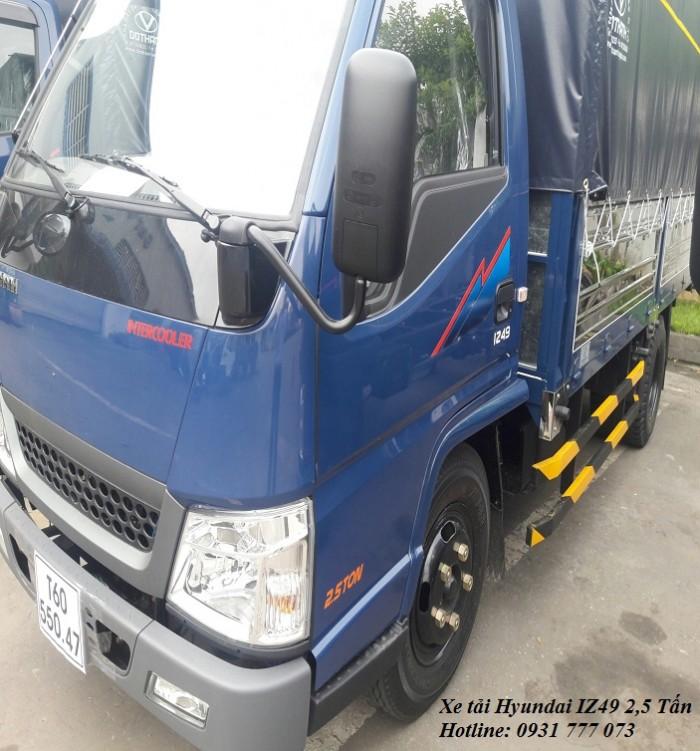 Xe tải Hyundai IZ49 2,5 tấn, hoàn tất hồ sơ trong ngày, giao xe trong vòng 5 ngày