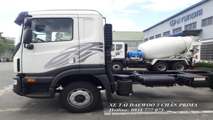 Xe tải Daewoo 3 chân 15 Tấn, Giao Xe Trong Vòng 5 Ngày
