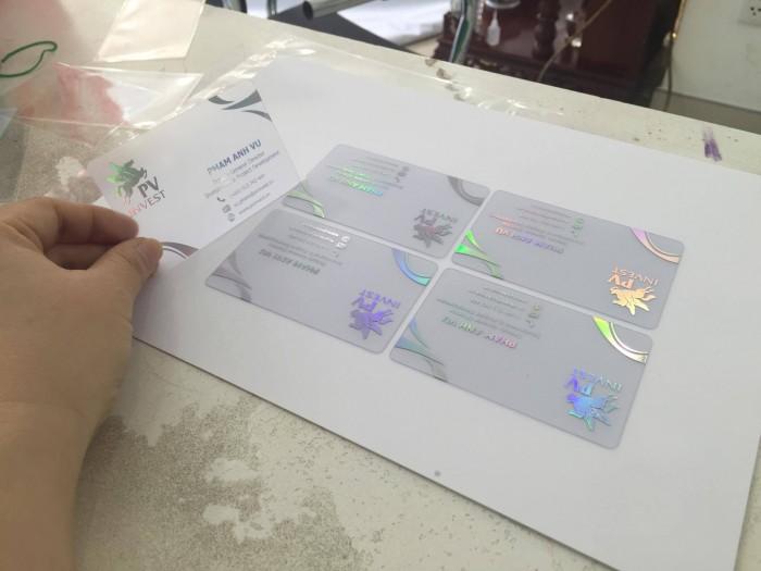 In name card trong suốt từ nhựa tổng hợp PVC