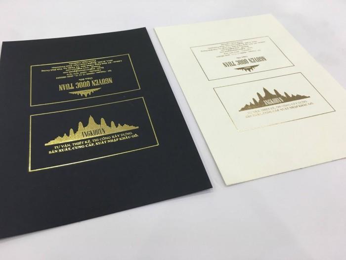 In ấn giấy art chất lượng cao làm name card cao cấp