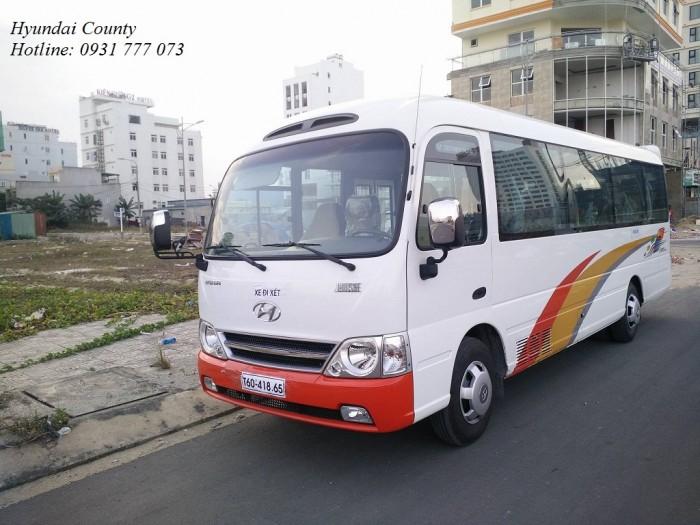 Xe khách 29 chỗ, xe Hyundai County 29 chỗ - Hỗ trợ trả góp lãi suất thấp - Hotline: 0931777073 (24/24)