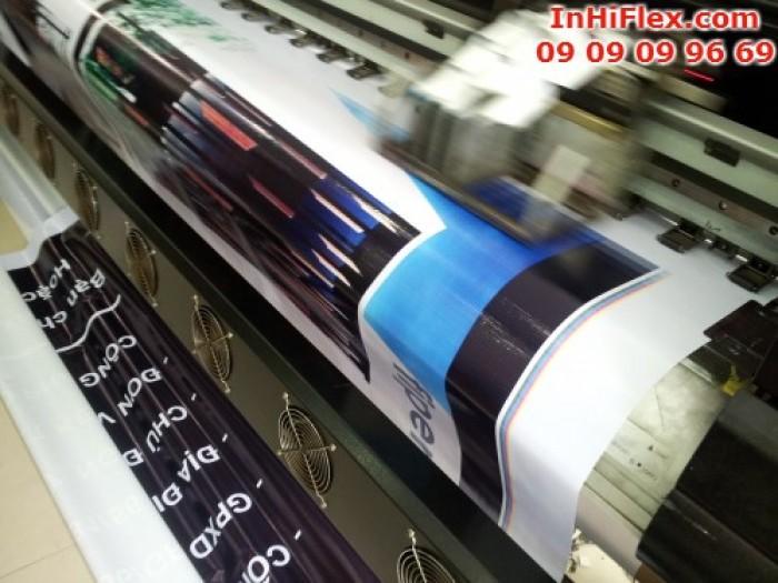 Với hệ thống máy in hiflex khổ lớn ngay tại xưởng - In Kỹ Thuật Số cung cấp dịch vu in phông nền lấy ngay cho khách hàng đến 365 Lê Quang Định, phường 5, quận Bình Thạnh, TP.HCM
