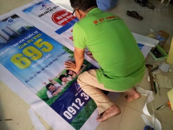 Poster từ chất liệu bạt hiflex cho chương trình quảng bá, giới thiệu dự án nhà đất, căn hộ, chung cư