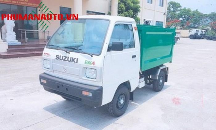 Xe Tải ben chở rác Mini Suzuki 500kg, xe chở rác mini vào ngõ hẻm 1