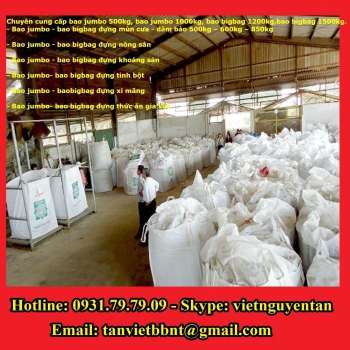 Bao Jumbo 1000kg, Bao Jumbo 2000kg, Bao Jumbo đựng gạo, Bao Jumbo đựng bột mỳ1