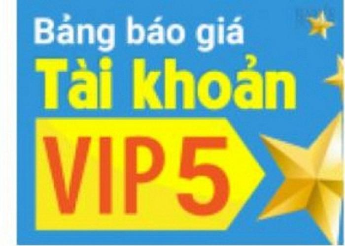 Tài khoản Vip 5. Không giới hạn số lượt up tin cho khách hàng