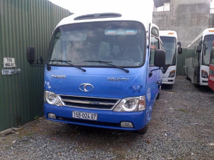 Bán xe Hyundai County 29 chỗ Thaco lắp ráp tại Hải Phòng HB73S
